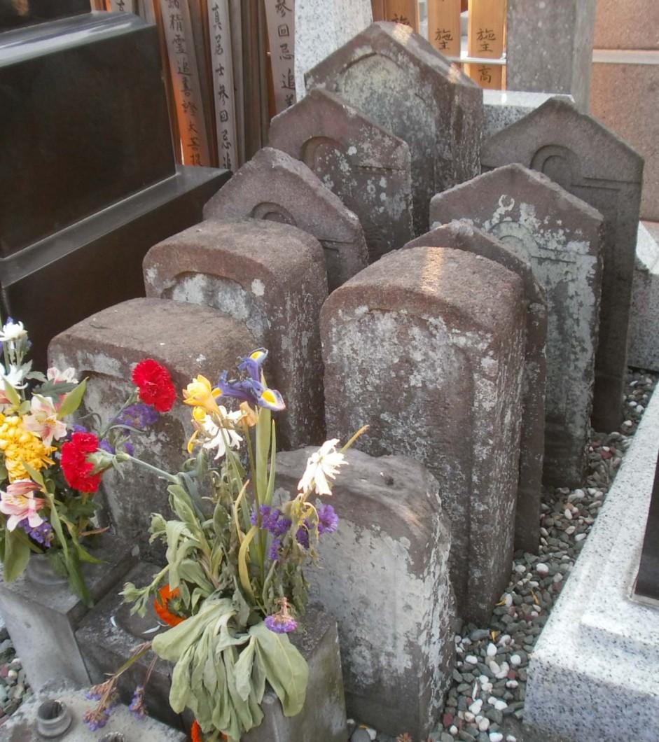 個人単位に建墓されたむかしのお墓